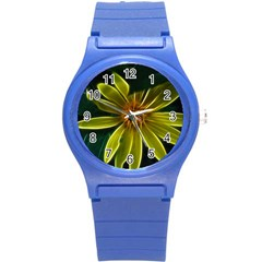 Yellow Wildflower Abstract Plastic Sport Watch (small) by bloomingvinedesign