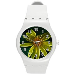 Yellow Wildflower Abstract Plastic Sport Watch (medium) by bloomingvinedesign