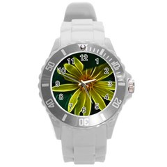 Yellow Wildflower Abstract Plastic Sport Watch (large) by bloomingvinedesign