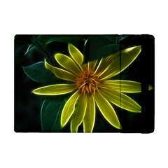 Yellow Wildflower Abstract Apple Ipad Mini Flip Case by bloomingvinedesign