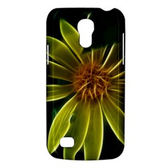 Yellow Wildflower Abstract Samsung Galaxy S4 Mini (gt I9190) Hardshell Case  by bloomingvinedesign