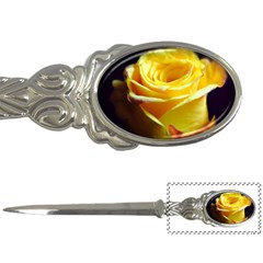 Yellow Rose Curling Letter Opener by bloomingvinedesign