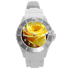 Yellow Rose Curling Plastic Sport Watch (large) by bloomingvinedesign