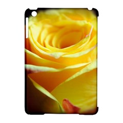 Yellow Rose Curling Apple Ipad Mini Hardshell Case (compatible With Smart Cover) by bloomingvinedesign