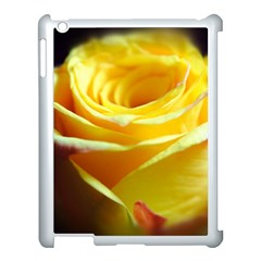 Yellow Rose Curling Apple Ipad 3/4 Case (white) by bloomingvinedesign