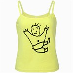 Cute Little Cartoon Boy Yellow Spaghetti Tank