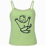 Cute Little Cartoon Boy Green Spaghetti Tank