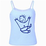 Cute Little Cartoon Boy Baby Blue Spaghetti Tank