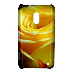 Yellow Rose Curling Nokia Lumia 620 Hardshell Case by bloomingvinedesign