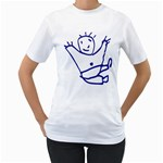 Cute Little Cartoon Boy Women s T-Shirt