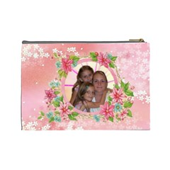 Happy Spring Large Cosmetic Bag By Joy Johns   Cosmetic Bag (large)   40lgh3siengv   Www Artscow Com Back