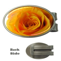 Yellow Rose Close Up Money Clip (oval) by bloomingvinedesign