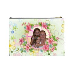 Happy Spring Large Cosmetic Bag #2 By Joy Johns   Cosmetic Bag (large)   Ehqk8iwn8gxd   Www Artscow Com Back