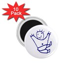 Cute Little Cartoon Boy 1.75  Magnet (10 pack)
