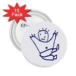 Cute Little Cartoon Boy 2.25  Button (10 pack)