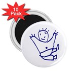 Cute Little Cartoon Boy 2.25  Magnet (10 pack)