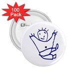 Cute Little Cartoon Boy 2.25  Button (100 pack)