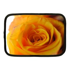 Yellow Rose Close Up Netbook Sleeve (Medium) by bloomingvinedesign