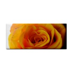 Yellow Rose Close Up Hand Towel