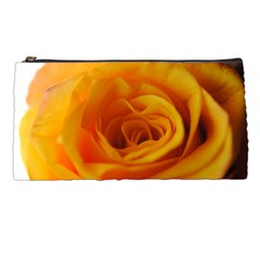 Yellow Rose Close Up Pencil Case by bloomingvinedesign