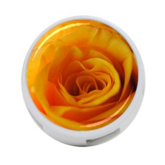 Yellow Rose Close Up 4 Port Usb Hub (two Sides) by bloomingvinedesign