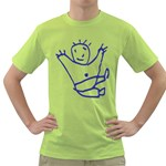 Cute Little Cartoon Boy Green T-Shirt