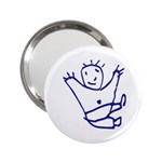 Cute Little Cartoon Boy 2.25  Handbag Mirror