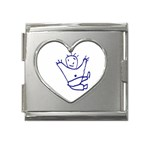Cute Little Cartoon Boy Mega Link Heart Italian Charm (18mm)