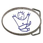 Cute Little Cartoon Boy Belt Buckle