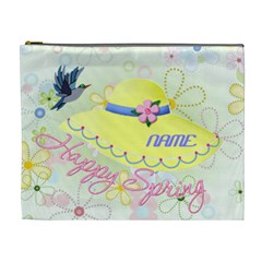 Spring Xl Cosmetic Bag #3 By Joy Johns   Cosmetic Bag (xl)   Gl4llbah0mgv   Www Artscow Com Front