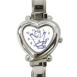 Cute Little Cartoon Boy Heart Italian Charm Watch