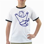 Cute Little Cartoon Boy Ringer T