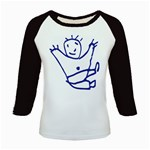 Cute Little Cartoon Boy Kids Baseball Jersey