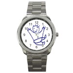 Cute Little Cartoon Boy Sport Metal Watch