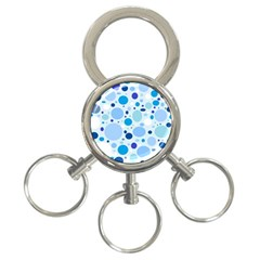 Bubbly Blues 3 Ring Key Chain by StuffOrSomething