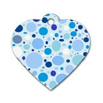 Bubbly Blues Dog Tag Heart (One Sided)  Front