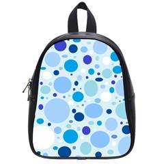 Bubbly Blues School Bag (small) by StuffOrSomething