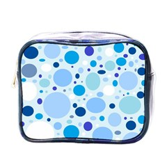 Bubbly Blues Mini Travel Toiletry Bag (one Side) by StuffOrSomething