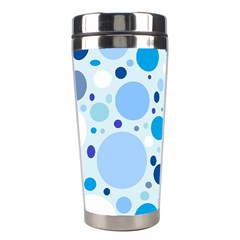 Bubbly Blues Stainless Steel Travel Tumbler by StuffOrSomething