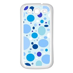 Bubbly Blues Samsung Galaxy S3 Back Case (white) by StuffOrSomething