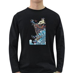 Pirate Ship Men s Long Sleeve T Shirt (dark Colored) by Contest1889920