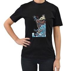 Pirate Ship Women s T Shirt (black)