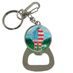 Painted Flag Big Foot Aust Bottle Opener Key Chain by creationtruth