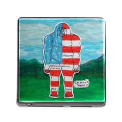 Painted Flag Big Foot Aust Memory Card Reader With Storage (square) by creationtruth