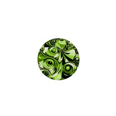 Retro Green Abstract 1  Mini Button by StuffOrSomething