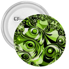 Retro Green Abstract 3  Button by StuffOrSomething