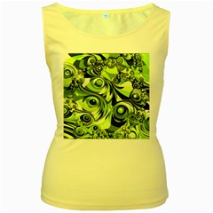 Retro Green Abstract Women s Tank Top (yellow) by StuffOrSomething