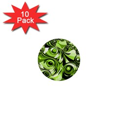 Retro Green Abstract 1  Mini Button (10 Pack) by StuffOrSomething
