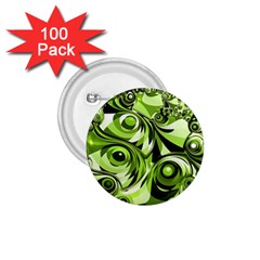 Retro Green Abstract 1 75  Button (100 Pack) by StuffOrSomething
