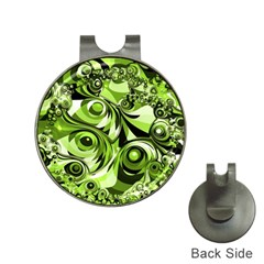 Retro Green Abstract Hat Clip with Golf Ball Marker